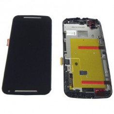 LCD/Display cu touchscreen Motorola Moto G-2 XT1068 cu rama negru - Display LCD