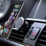 Suport Auto Magnetic iPhone Samsung HTC Nokia LG Cu Magnet Argintiu