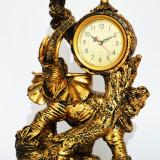 Statueta din rasina  cu ceas - Elefant - Produs Nou - LICHIDARE DE STOC