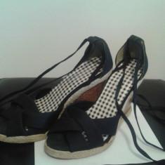 Sandale platforma - Sandale dama, Marime: 36, Culoare: Negru