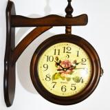 Ceas din lemn cu doua fete - Produs Nou