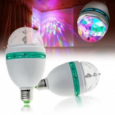 Bec Rotativ cu LED-uri multicolore - Efecte lumini club
