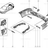 Capac Bara spate OE Renault Laguna 1 Nevada 1993-, capac original 7701045846