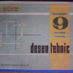 Manual experimental DESEN TEHNIC cl. a 9-a / C6P