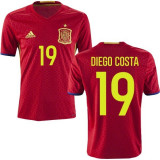 TRICOU ADIDAS SPANIA ACASA EURO 2016/2017 (19 DIEGO COSTA)