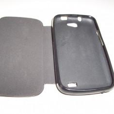 Husa tip carte cu stand neagra pentru telefon Allview A5 Duo - Husa Telefon