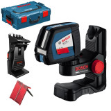 Nivela optica - BOSCH GLL 2-50 + BM 1 + L-BOXX Nivela laser cu linii + Suport BM1 + L-BOXX...