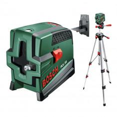 BOSCH PCL 20 + Stativ 1, 5 m Nivela laser cu linii + Stativ constructii...