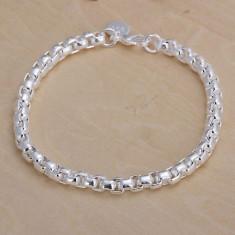 Bratara argint, Unisex - Bratara placata cu argint + saculet cadou