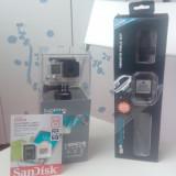 Camera video GoPro Hero 4 Silver Edition vine cu Remote Pole23 + SanDisk 64Gb