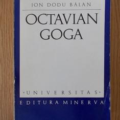 ION DODU BALAN, OCTAVIAN GOGA - Carte Monografie