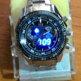 Ceas led - Vand ceas barbatesc TVG afisaj cu LED si analog, alarma
