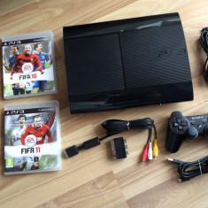 Consola Ps3 Sony Playstation 3 Super Slim 500GB+2 jocuri Fifa 2010, Fifa2011
