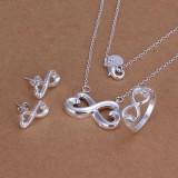 Set Lantisor, Inel si Cercei din Argint 925 + cutiuta cadou - Set bijuterii argint