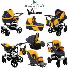 Carucior Bebetto Vulcano 2 in 1 - Carucior copii 2 in 1 Bebetto, Altele, Pliabil, Multicolor