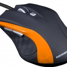 Mouse Modecom M-MC-00M5-160, optic, MC-M5, 800-1600-2400 dpi, negru -portocaliu