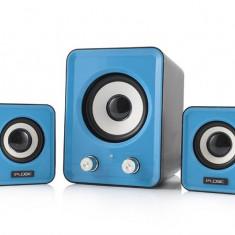 Boxe Logic LS-20 albastru [ 2.1 stereo ] - Boxe PC