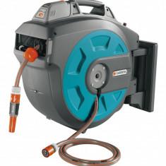 Gardena Dispozitiv de perete Comfort 08025-20 pentru furtun 35 roll-up automatic Li-Ion - Stropitoare gradina