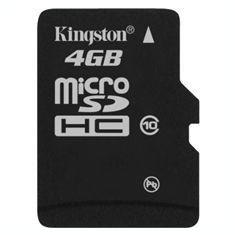 Secure Digital Card micro SDHC 4GB class10 KINGSTON, adaptor SD - Card memorie