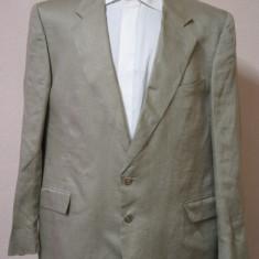 Sacou din in GIVENCHY Gentlemen original - Sacou barbati Givenchy, Marime: XL, Culoare: Din imagine, 2 nasturi, Marime sacou: 56, Normal