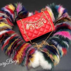 Genti Moschino Shoulder Bag Collection 2016 * LuxuryBags * - Geanta Dama Moschino, Culoare: Din imagine, Marime: Masura unica, Geanta de umar, Piele