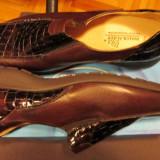 Pantofi piele NATURALA masura 40 marca Waldlaufer talpa ortopedica - Pantof dama, Marime: 40 1/3, Culoare: Maro