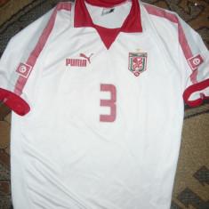 Tricoul Echipei Fotbal Tunisia, Jucator Hagui, masura 14 ani, firma Puma - Tricou echipa fotbal, Marime: S, Culoare: Alb