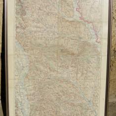 Harta 1940 tactica militara germana WWII Jud IASI inramata - Hartie cu Antet