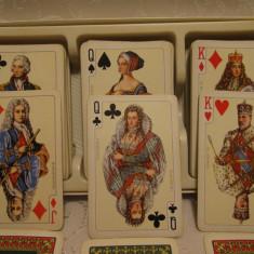 COLECTII - SET TRIPLU CARTI DE JOC PIATNIK VIENA AUSTRIA - POKER, CANASTA - Carti poker