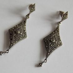 Cercei de argint cu marcasite - Cercei argint