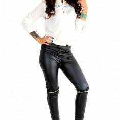 Pantaloni tip ZARA de piele ecologica ● calitate garantata ● COLECTIE NOUA 1044 - Pantaloni dama, Marime: S, M, L, Culoare: Din imagine