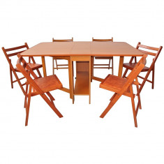 Set masa plianta de 8 persoane - Masa bucatarie