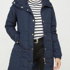Jacheta lunga matlasata Vero Moda - 10157839 bleumarin - Geaca dama Vero Moda, Marime: XS, S, M, L, Culoare: Albastru
