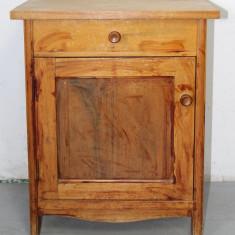 Noptiera din lemn masiv cu sertar si usa; Dulap; Comoda mica; Dulapior