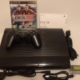 Consola Sony PS3 UltraSlim complet original joc Blu-Ray  FIFA Fotbal sau actiune