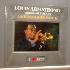 LOUIS ARMSTRONG - AMBASSADOR SATCH (1955/CBS REC/HOLLAND) - Vinil/IMPECABIL(NM) - Muzica Jazz Columbia
