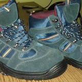 Incaltaminte bocanci (bombeu metalic) - Bocanci barbati, Marime: 44, Culoare: Albastru