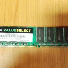 Ram PC Corsair 1Gb DDR1 400MHz VS1GB400C3 - Memorie RAM