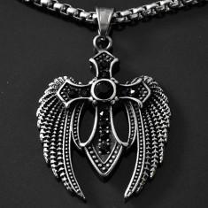Pandantiv / Amuletă Cruciuliţă / Cruce / Crucifix din INOX - cod PND052
