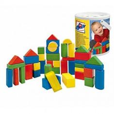 Galeata cu cuburi din lemn 60 piese Altele