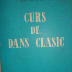 CURS DE DANS CLASIC AN 1965/158PAGINI - Carte Arta dansului