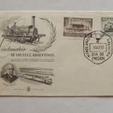 Locomotive Trenuri FDC Argentina 1957
