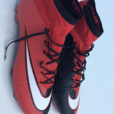 Ghete fotbal Nike Mercurial Profesionale., Marime: 43, Culoare: Rosu