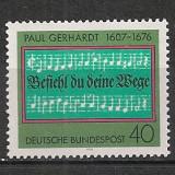 Germania.1976 300 ani moarte P.Gerhardt-textier SG.351 - Timbre straine, Nestampilat