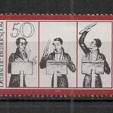 Germania.1976 150 ani moarte C.M. von Weber-compozitor SG.352 - Timbre straine, Nestampilat