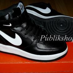 Ghete Nike Air Force negru/alb - Ghete barbati Nike, Marime: 37, 38, 39, 40, 41, 42, 43, 44, Culoare: Din imagine, Textil