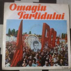 Omagiu Partidului 1921 1971 muzica corala disc vinyl lp exe 514 electrecord rar, VINIL
