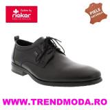 Pantofi barbati piele naturala RIEKER 10620-00 negru (Marime: 45)