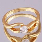 Superb inel 9k GOLD FILLED cu ZIRCON CZ. Marimea 6.5 - Inel placate cu aur