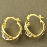 Superbi cercei 9k GOLD FILLED model versace - Cercei placati cu aur